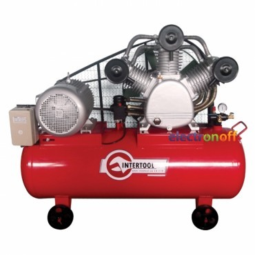 Компрессор 300 л, 20 HP, 15 кВт, 380 В, 8 атм, 2000 л/мин 3 цилиндра PT-0052 Intertool