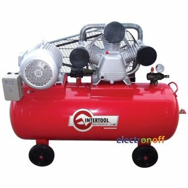 Компрессор PT-0040 Intertool 200 л 10 HP 7.5 кВт 380 В 8 атм 1050 л/мин 3 цилиндра