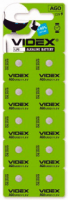 Батар часов Videx AG12/LR43 BLISTER CARD 10 pcs