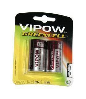 Батарея GREENCELL R14 2шт/блистер