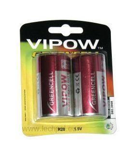 Батарея GREENCELL R20 2шт/блистер