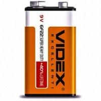 Батар.солевая Videx 6F22/9V (Крона) 1pcs SHRINK