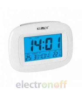 Часы электронные (время, дата, день, температура, будильник) Kemot
