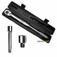 Динамометрический ключ XT-9007 Intertool 1/2 дюйма переходник 1/2 x 3/8, удлинитель 125 мм 1/2 28-210 NM