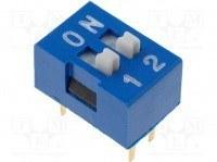 DIP переключатель, 2 секции (DS-02)