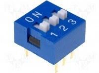 DIP переключатель, 3 секции, SMD (DM-03)