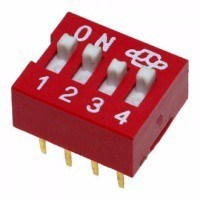 DIP переключатель, 4 секции (DS-04)