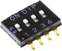 DIP переключатель, 4 секции, мини (NHDS-04)