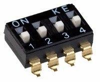 DIP переключатель, 4 секции, SMD (DM-04)