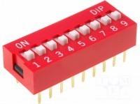 DIP переключатель, 9 секций (DS-09)
