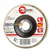 Диск шлифовальный лепестковый 125 x 22 мм, зерно K150 BT-0215 Intertool