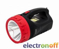 Фонарь аккумуляторный 1LED 5W + 25 LED LB-0102 Intertool
