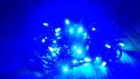 Гирлянда-нить 8м 300 led с контроллером синяя