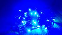 Гирлянда-нить 8м 400 led с контроллером синяя