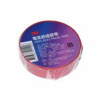 Изолента электротехническая 0.13мм х 19мм, красная 3M (20м)