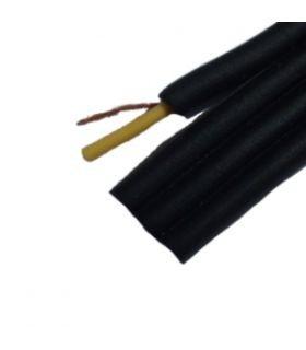 Кабель аудио-видео (низкочастотный) 4ж. в экране, шлейф, (2,8*11,2мм), чёрный, 100м.