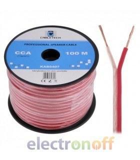 Кабель колоночный CCA 1.0mm Cabletech extra flexible (бухта 100м)