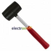 Киянка резиновая 680 г 80 мм черная резина металлическая ручка HT-0232 Intertool