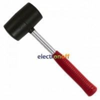 Киянка резиновая 900 г 90 мм черная резина металлическая ручка HT-0233 Intertool