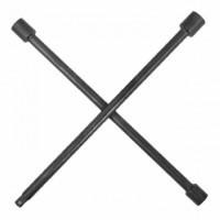 Ключ баллонный крестовой 16 дюймов x 406 мм профессионал HT-1603 Intertool диаметр 16 мм, головки 17, 19, 21 мм и квадрат для насадок 1/2 дюйма