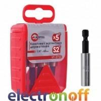 Комплект магнитных держателей 1/4 дюйма x 60 мм VT-573205 Intertool