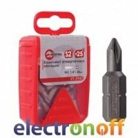 Комплект отверточных насадок PH1 1/4 дюйма x 25мм уп 25шт VT-5942 Intertool
