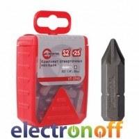 Комплект отверточных насадок PH2 1/4 дюйма x 25 мм уп 25 шт VT-5946 Intertool