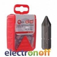 Комплект отверточных насадок PZ1 1/4 дюйма x 25мм, 25шт VT-5945 Intertool