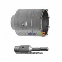Комплект SD-7046 Intertool сверло корончатое по бетону 46 мм + переходник SDS Plus 100 мм