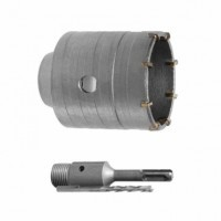 Комплект SD-7055 Intertool сверло корончатое по бетону 55 мм + переходник SDS Plus 100 мм
