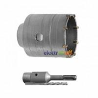 Комплект SD-7080 Intertool сверло корончатое по бетону 80 мм + переходник SDS Plus 100 мм