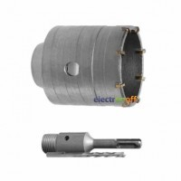 Комплект сверло корончатое по бетону SD-7036 Intertool 36 мм + переходник SDS Plus 100 мм