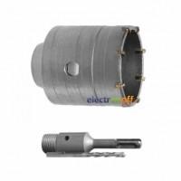 Комплект сверло корончатое по бетону SD-7050 Intertool 50 мм + переходник SDS Plus 100 мм