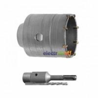 Комплект сверло корончатое по бетону SD-7040 Intertool 40 мм + переходник SDS Plus 100 мм