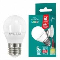 LED лампа TITANUM G45 5W E27 4100K 220V