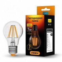 LED лампа VIDEX NeoClassic (Filament) A60F 7W E27 4100K 220V
