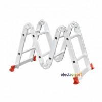 Лестница алюминиевая мультифункциональная трансформер 4 x 2 ступени 2.50 м LT-0028 Intertool
