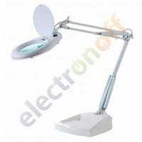 Лупа-лампа ZD-129 настольная круглая 5Х диаметр 130 мм белая