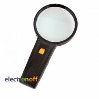 Лупа ручная MG82015 круглая с подсветкой x2.5 диаметр 90 мм