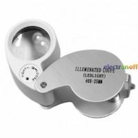 Лупа ювелирная MG21011 c LED подсветкой 30х диаметр 25 мм
