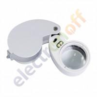 Лупа ювелирная MG21011 c LED подсветкой 30х диаметр 25 мм. Подсветка