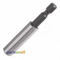 Магнитный держатель для насадок 1/4 дюйма 60 мм Drop Forged VT-0101 Intertool