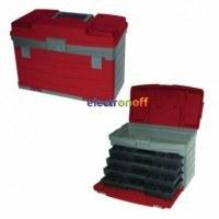 Многофункциональный органайзер для метизов 17 дюймов 435 x 235 x 300 мм BX-4017 INTERTOOL