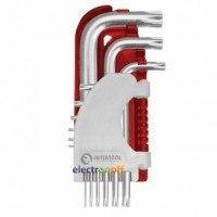 Набор Г-образных ключей TORX 9 шт Т10-Т50 S2 Professioanl HT-1821 Intertool