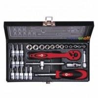 Набор инструмента 1/4 дюйма 28 единиц головки 4-13 мм, биты 11 единиц ET-6028 Intertool