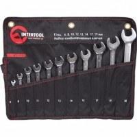 Набор комбинированных ключей PROF DIN3113 XT-1003 Intertool 11 шт (6, 8, 10, 11, 12, 13, 14, 15, 17, 19, 22 мм)