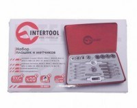 Набор метчиков и плашек 20 ед SD-8021 Intertool