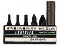 Набор наконечников ENGINEER DR-14 (7 шт с жестким удлиннителем для отвертки DR-04)