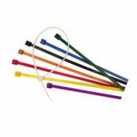Набор стяжек 100x2.5 мм, красные, желтые, зеленые, синие, черные в блистере (по 40шт)