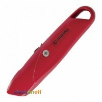Нож HT-0505 Intertool с выдвижным трапециевидным лезвием металлический корпус
